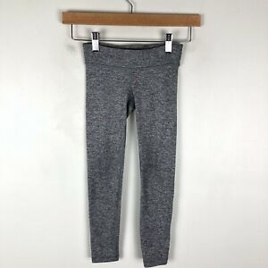 Ivivva 6 full length gray leggings 0303 girl activewear pants stretch lululemon