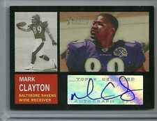 2005 Topps Heritage Football Mark Clayton Autographed Card