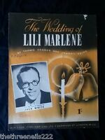 ORIGINAL SHEET MUSIC - THE WEDDING OF LILI MARLENE - JACK WHITE