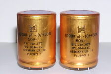 2pcs ROE EYV 10000uF 50V  LL  Hi-Fi Audio Gold 5-pin Capacitors.NOS.