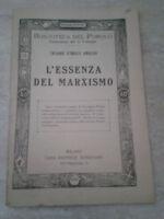 Biblioteca del popolo - L'ESSENZA DEL MARXISMO - Anni '20 - Sonzogno