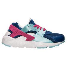 Nike Air Huarache Run GS Girls 654280 401 Insignia Blue/Vivid Pink/Purple 6Y