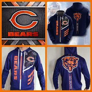 Chicago Bears Hoodie Lightweight Men's medium Unisex Men Women Football Sweater