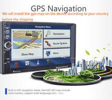"7"" HD 2Din In-dash Car GPS Navigation Car Bluetooth Stereo MP3 Player FM Radio"