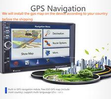 "7"" HD 2Din In-dash Car GPS Navigation Car Bluetooth Stereo MP3 Player FM Radio"