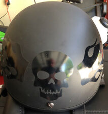Helmet Skull and Flames Decal Sticker- Graphics