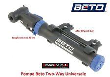 """0370 - Pompa Gonfiatore """"BETO"""" Two-Way Universale per bici 26-28 Corsa Strada"""