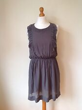 WHISTLES WOMENS/LADIES GREY SILK DRESS SIZE 8