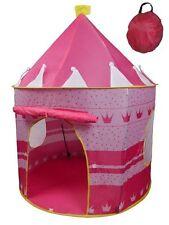 New Pink Pop up Foldable Tent Castle Playhouse Kids Girls Children 135 x 105 cms