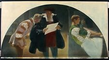 JOHN ALEXANDER Antq/Vtg c1915-21 Hand-Color Emery Print THE PRINTING PRESS, LOC