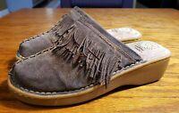 Earth Spirit Gelron 2000 Size 9.5 Women's Strap Tan Leather Brown Sandals