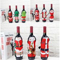Christmas Wine Bottle Cover Cute Apron Wrap Dinner Home Party Table Decor Gift