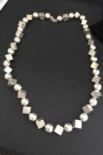 ANTONIO PINEDA  Early Modernist Mexican Silver Necklace. Spectacular.