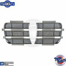 69 Camaro RS Chrome Headlight Lamp Light Bezel Door Chrome Louver USA Made