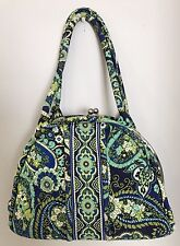 Vera Bradley Purse Rythem Blues Kiss lock Shoulder Bag Large Retired Pattern