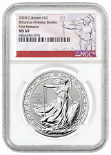 2020 Britain Oriental Border Britannia 1 oz Silver £2 Coin NGC MS69 FR SKU60766