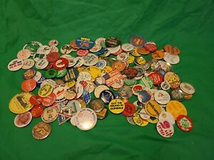 1970s To 1990s Vintage Pinback Button Large Lot