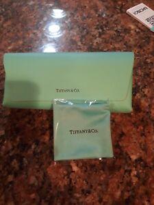 Tiffany & Co. Leather Flip Eye Glasses Case - CLOTH NEW