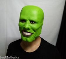 horror head mask green Jim carrey Latex devil Loki prop Masquerade unisex party