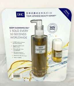 DHC Deep Cleansing Oil &Bonus Travel Size 10.1OZ Oil For All Skin Types N SEALED