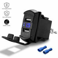 12V UTV ATV Car Charger Dual USB Socket Switch LED Fast Charging for Polaris