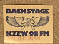 Very RARE Walter Egan KZEW 98FM Backstage Concert Pass Dallas Texas April 1980