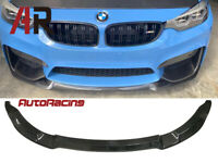 CS Style Carbon Fiber Front Bumper Spoiler Lip Fits 2015+ BMW F80 M3 F82 M4 CF