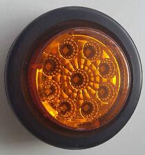 "Lucidity 2"" Round marker light Amber, 12-24 Volt,Truck,Trailer,Ute,Bus,Caravan"