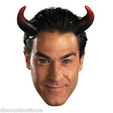NOGGINZ OVER SIZED DEVIL HORNS RED BLACK  ADULT HALLOWEEN COSTUME ACCESSORY