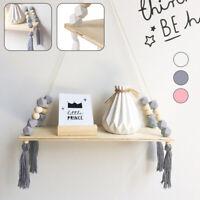 Étagère murale en bois corde balançoire support stockage bébé enfants chambre BR