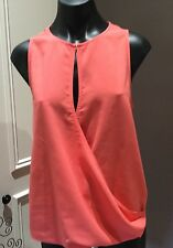 VERONIKA MAINE Top Size 10 Coral Sleeveless BNWT new Lovely