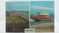 Vintage Postcard of Southsea Promenade and Hovercraft 1974 Portsmouth Hampshire