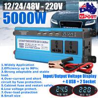 AU 5000W Peak Modified Sine Wave Inverter 12/24/48V DC to 220V AC Converter