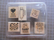 ❤️ Rubber Stamp Lot Stampin' Up Stamps Mounted Teacher Set 2000
