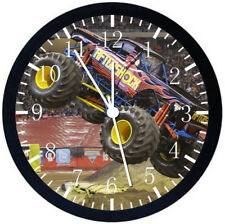 Big Truck Black Frame Wall Clock Nice For Decor or Gifts E233