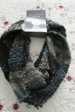 Covington Women´s BLACK ~ GRAY ~ BEIGE ~TURQUOISE Knit Loop Scarf One Size NWT