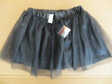 Women Ballet Tutu BLACK Mini Skirt Adult Teens Girl Pettiskirt Lace Gauze Party