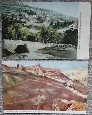 2x 1907 Jerusalem & Mount of Olives / Getsemane / Gethsemane Postcard Israel