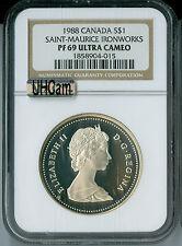 1988 CANADA $1 SILVER DOLLAR NGC MAC PR69 UHCam ULTRA HEAVY CAMEO SPOTLESS *