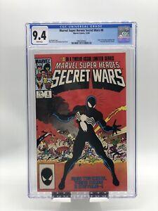 Marvel Super Heroes Secret Wars #8 CGC 9.4 WP Origin 1st Black Suit Spider-Man