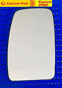 Left side mirror glass to suit RENAULT MASTER X62 2011 Onward Heated Convex base