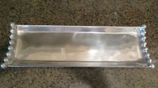 "Classic Pewter Oblong Tray for Appetizers, Etc. Gently Used 17"" x 5 1/2"""