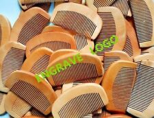 100pcs/lot Peach Wood Fine Wide Tooth Beard Care Combs Wooden Comb Custom LOGO