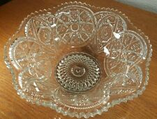 ALIG Imperial Glass 10 Inch Sawtooth Hobstar Patchwork Bowl GORGEOUS!