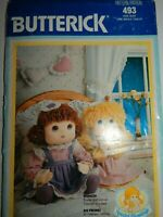 Doll Stuffed Soft Special Blessings Sewing Pattern Butterick 493 UC FF Vtg 80's