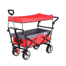 Sekey 326601 Faltbarer Bollerwagen mit Dach - Rot