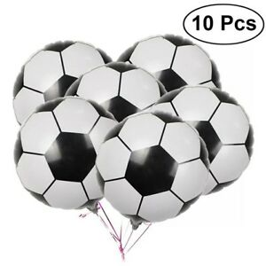 "Football Foil Balloons X 10 Birthday Party Balloon Boy 18"" Girl"