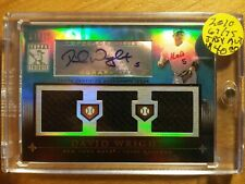 DAVID WRIGHT 2010 TRIBUTE TRIPLE JERSEY AUTO IN MAG CASE #67/75 SP! NY METS!