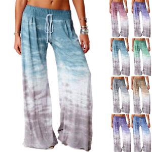 Women Pajama Pants Soft Tie Dye Casual Lounge Sleepwear Winter Bottom Plus Size