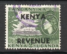 1954 K.U.T. Bft:5 2s.Black & Green Revenue Overprint. Fine Used.